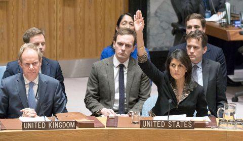 ONU impõe derrota moral aos EUA por reconhecimento de Israel